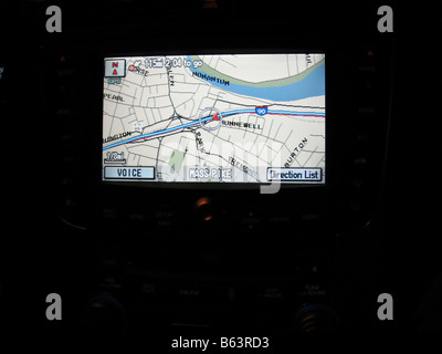 a gps navigation screen - Stock Photo
