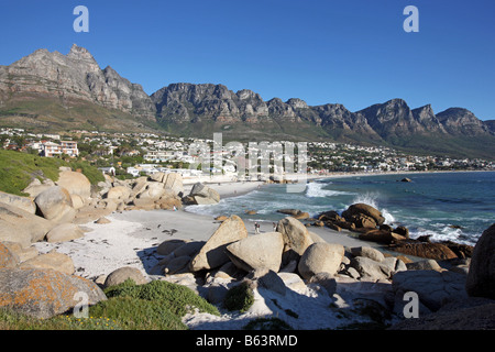 View of Camps Bay, Cape Town, South Africa March 2008 - Stock Photo
