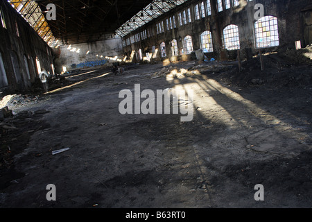 Abandoned warehouse in Stocznia Gdansk - Stock Photo