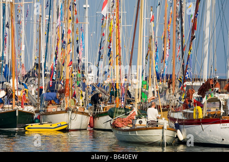 Old Gaffers Festival Yarmouth Isle of Wight - Stock Photo