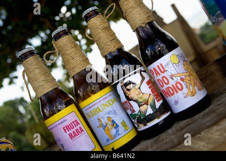 Brazil, Olinda, Litle outdoor terrace Selling afrodiasic drinks