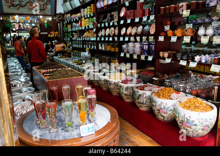 Traditional shop selling glass on passeig isabel ii - Tea shop barcelona ...