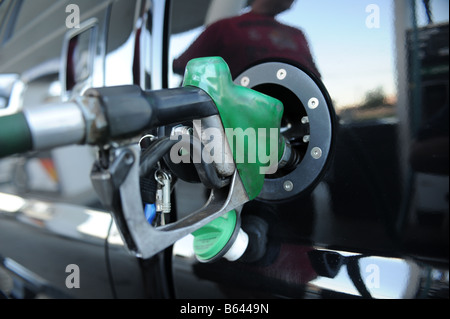 Gas Station Fuel in California USA - Stock Photo