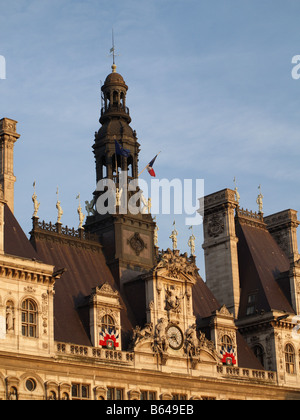 Hotel de Ville Paris France - Stock Photo