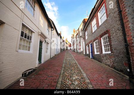 Keere Street, Lewes, East Sussex, England - Stock Photo