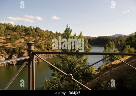 Lozoya river in 'Buitrago de Lozoya' - Stock Photo