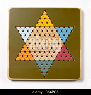 Chinese checkers Game Board - Stock Photo
