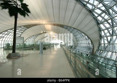 Suvarnabhumi Airport interior - Stock Photo