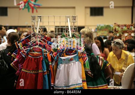 Scene of the Artisan's fair at Panama City. - Stock Photo