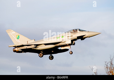 Eurofighter Typhoon F2 on Air Field Approach at RAF Kinloss Moray Scotland UK  SCO 2011 - Stock Photo