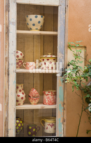 Pottery atelier in Moustiers Sainte Marie, Haute Provence, France - Stock Photo
