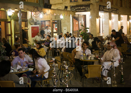 Coffe Beanery, Souq Waqif, Doha, Qatar, at night - Stock Photo