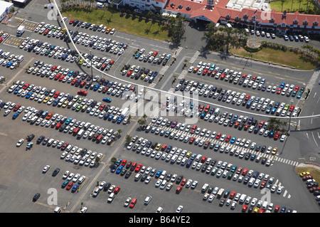 Sea World Car Park Gold Coast Queensland Australia aerial - Stock Photo