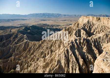 Scene from Fonts Point Sunrise Anza Borrego Desert State Park California - Stock Photo