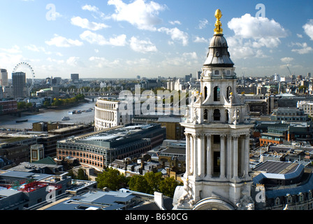 View from St Pauls Cathedral, London - Stock Photo