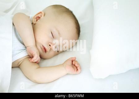 Sleeping baby, close-up - Stock Photo