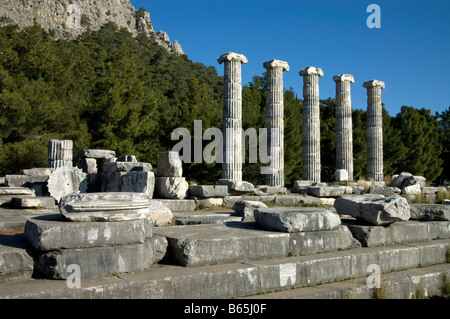 The Greek Temple of Athena Polias at Priene, Anatolia, Turkey. - Stock Photo