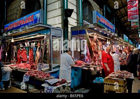 butcher central food meat market athens greece greek pig. Black Bedroom Furniture Sets. Home Design Ideas