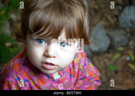 1 year old baby girl - Stock Photo