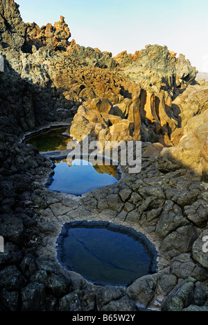 volcanic rocks on the island of Pantelleria in Italy - Stock Photo