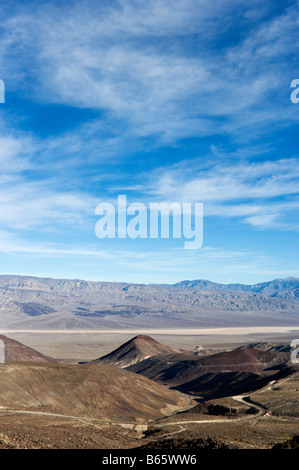 View from SR 190 in Panamint Range just past Towne Pass, Death Valley National Park, California, USA - Stock Photo