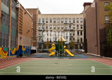 A school playground in Harlem New York NY United States 4 November 2008 - Stock Photo