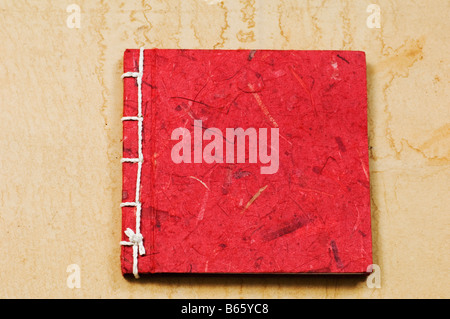 Recycled paper diary - Stock Photo