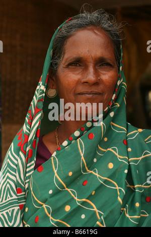 Seamstress in Hampi, India - Stock Photo