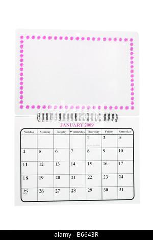 calendar blank page