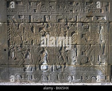 El Tajin, Mexico. Relief Of Ceremony - Stock Photo