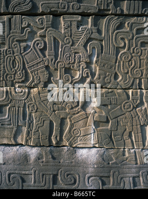 El Tajin, Mexico. Relief Of Sacrifice Detail - Stock Photo