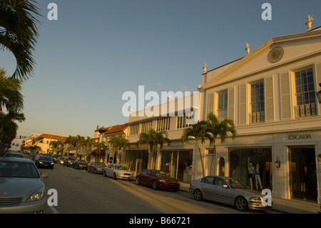 Worth Avenue Palm Beach Gold Coast Florida United States of America - Stock Photo