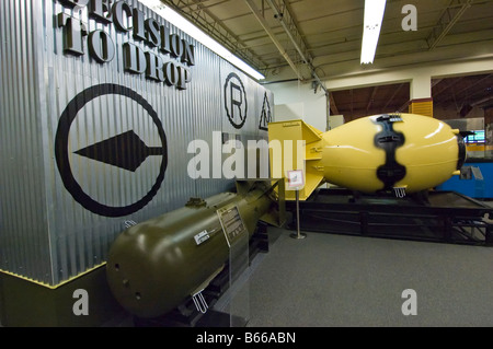 Model of Fat Man atomic bomb, National Atomic Museum near Old Town, Albuquerque, New Mexico. - Stock Photo