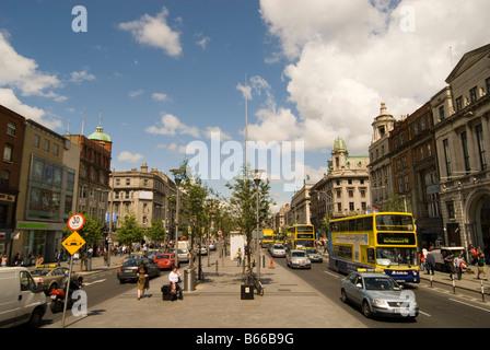 O'CONNELL STREET DUBLIN IRELAND - Stock Photo