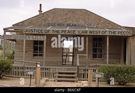 The Jersey Lily Saloon of Judge Roy Bean Langtry Texas US - Stock Photo