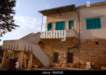 berween past and present house to house yesterday and today lebanon - Stock Photo