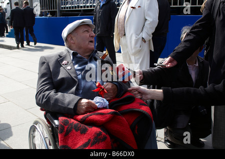 Veteran s of World War II Moscow Victory Parade of 2008 - Stock Photo