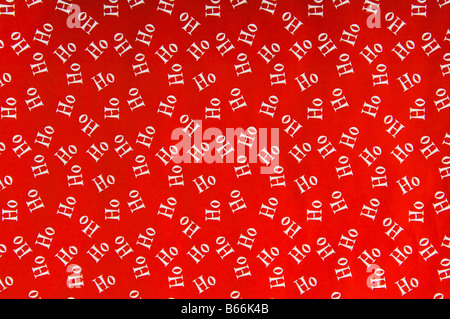 Text ho against red background - Stock Photo