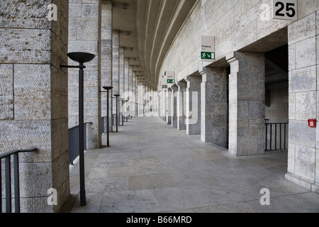 Berlin, Olympiastadion, oberer Umgang nach Osten - Stock Photo