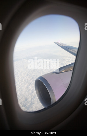 View out of a plane - Stock Photo