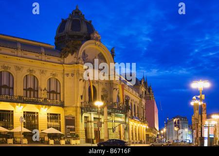Prague municipal house - Stock Photo