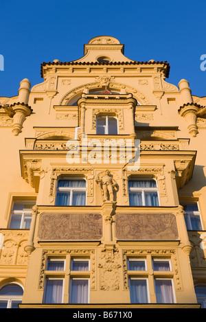 Art nouveau building prague - Stock Photo