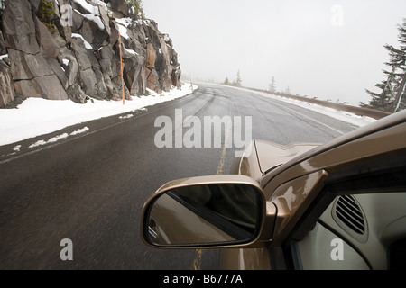 A car on a road - Stock Photo