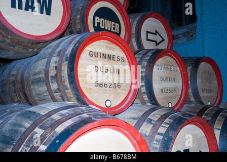 The Guinness storehouse in Dublin, Ireland - Stock Photo