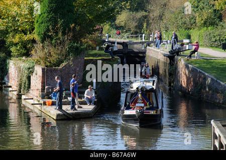 Newbury Lock Kennet and Avon Canal Berkshire England UK - Stock Photo