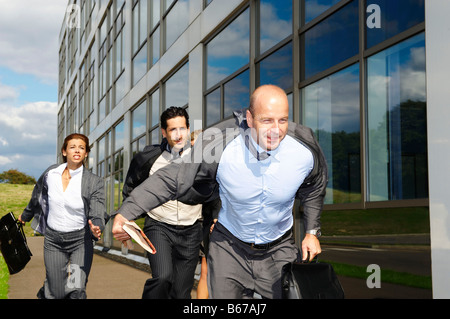 Business people running - Stock Photo
