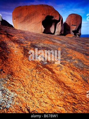 The Remarkable Rocks Flinders Chase National Park Kangaroo Island South Australia Southern Ocean 45 V IC - Stock Photo