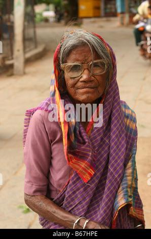 indian street lady - Stock Photo