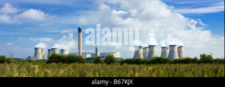 Drax power station near Selby, North Yorkshire, England, UK - Stock Photo