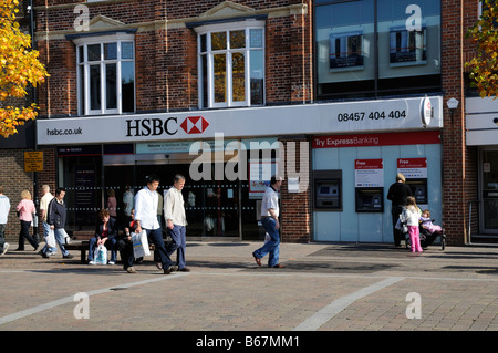 HSBC bank branch, UK Stock Photo, Royalty Free Image ...